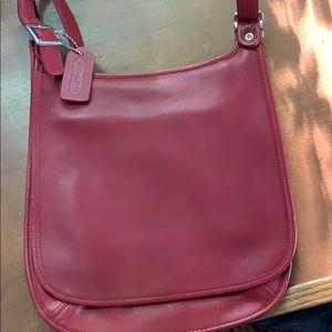 Gorgeous red/burgundy crossbody bag